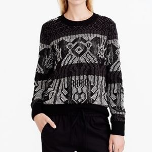 J.Crew Mixed Stitch Blanket Sweater Style B6521